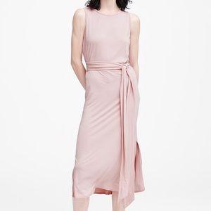 Banana Republic Pink Column Dress with Tie